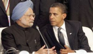 Manmohan Singh and Obama