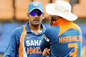 Dhoni and bhajji